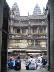 Turistas no Angkor Wat