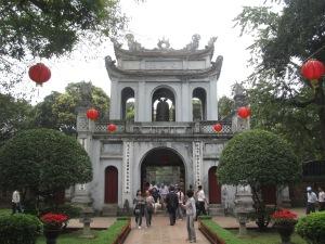 Portão de entrada do Templo da Literatura