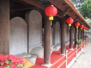 Pedras com nomes dos alunos mais renomados do Templo da Literatura