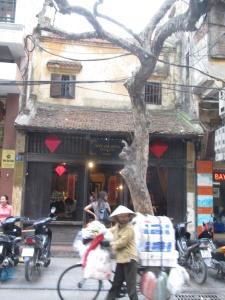 Cena do bairro antigo de Hanoi