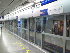 Uma das estações do metrô de Bangkok