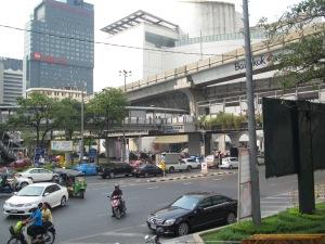 Região da Siam Squarte com o Skytrain