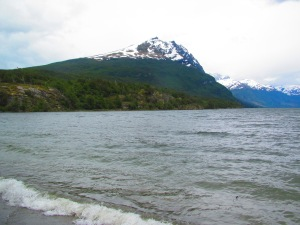 A paisagem no Lago Roca