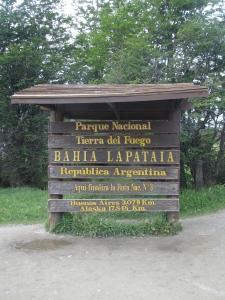 Fim da Ruta Nacional 3, na Baía Lapataia