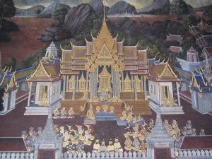 Um dos murais do Wat Phra Kaew