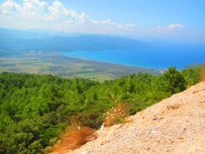 O mirante com esta linda vista fica na estrada entre Bodrum e Fethiye