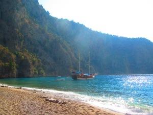 Uma das praias em que paramos com o gület