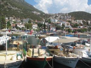 Um das paradas do gület foi na charmosa cidade de Kaş