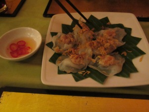Dumplings de entradinha no Morning Glory