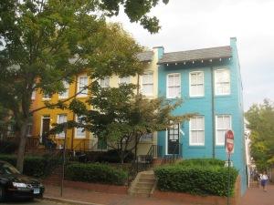 Casas no bairro de Georgetown