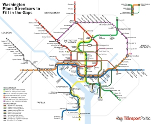 Mapa do metrô de Washington