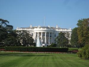 Fachada da Casa Branca virada para o Mall