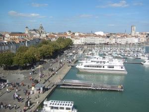 Porto antigo de La Rochelle visto da Tour de la Chaîne