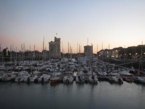 Porto de La Rochelle ao entardecer