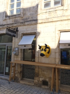 Rue Gargoulleau, no centro de La Rochelle