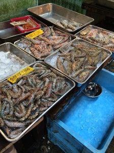 Camarões no Mercado Tsukiji