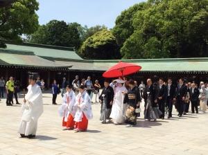 Cerimônia de casamento no Meiji-jingu