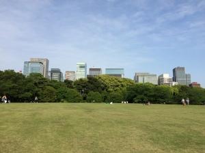 Gramado nos jardins do Palácio Imperial