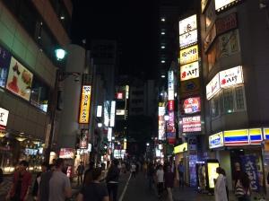 Rua de Shibuya à noite