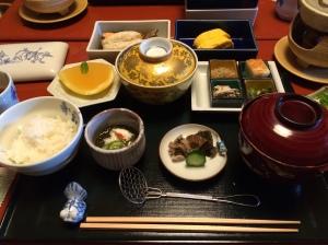Café da manhã do ryokan