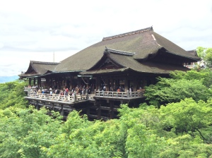 O templo Kiyomizu-dera, em Higashiyama